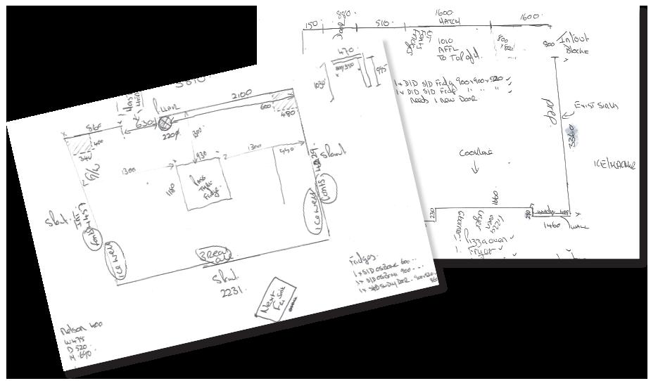 Preliminary sketches